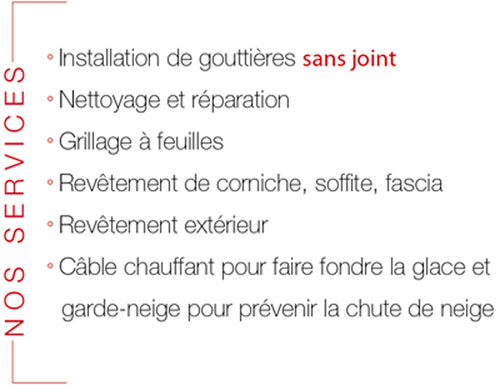 Installation de goutti res goutti res sans joints r paration de goutti res - Reparation de gouttiere ...